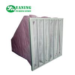 HVAC System Polyester Pocket Air Filter Bag M6-M9 3200m³/h Air Volume Galvanized Sheet Frame Manufactures