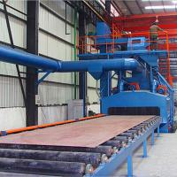 China Q69 Roller Conveyor Shot Blasting Machine Reduce Environment Pollution , Customized Color on sale