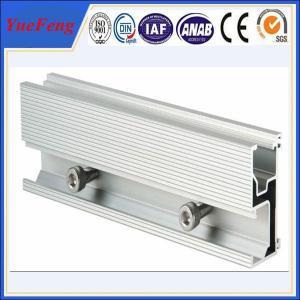 Aluminum extrusion for solar pannel mounting aluminium profile guide rail Manufactures