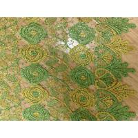 100% Cotton Tulle Lace Fabric , Soft Wedding Dress Lace Fabric Manufactures