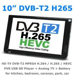 10 DVB-T2 MPEG4 H265 HEVC H264 Portable TV PVR Multimedia Player Digital Analog kitchen bedroom car Manufactures
