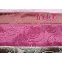 China 100% Polyester Gold Velvet Upholstery Fabric Weaving On Warp Knitting Machines on sale