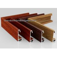 Quality Custom Wood Grain Copy Aluminium Picture Frame Mouldings Profiles for sale
