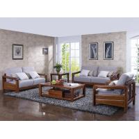 Quality High end quality 1+2+3 Solid wood Leisure sofa set by Fabric and density sponge upholstered seat cushion for sale