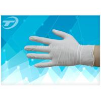 Medical Disposable Gloves Latex Examination Glove , Powder And Powder Free Manufactures