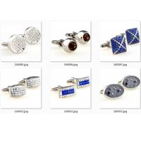 Epoxy Gold Blue Diamonds Stainless Steel Cufflinks Army Gentle Cuff Link OEM Gift Manufactures