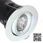 China GU10 Aluminium Centre Tilt LED Fire Rated Downlight - White Color