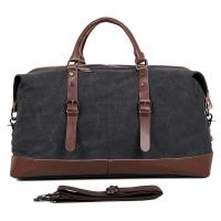 """Large Grey Canvas Mens Luggage Duffel Bags For Outdoor 21.5"""" L X 9.5"""" D X 12"""" H Manufactures"""