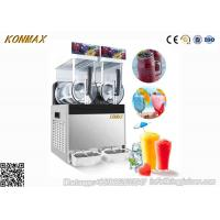 300W 15L×2 Ice Slush Machine With Double Tank For Making Beverage , 110V - 115V Manufactures