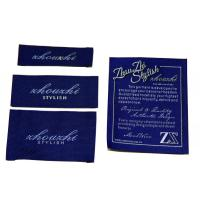 luxury high class Satin / Cotton Clothing Woven Labels With Customized Logo / Color / Shape Manufactures