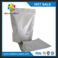 China Free sample aluminum foil stand up ziplock bag for food storage packaging on sale