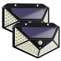 China 100LED Outdoor IP65 Waterproof Solar LED Motion Sensor Security Wall Night Lights on sale