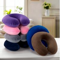 China Travel neck pillow, memory foam filling U shape pillow with washable short-pile velour fabric cover on sale