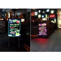 Quality Shop Menu Flashing LED Writing Board With Arcylic Surface Aluminum Stands for sale