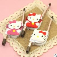 Dual Use Retractable Apple Data Cable Multi Purpose With Hello Kitty Cute Cartoon Manufactures