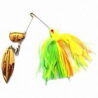 Fishing Lure with Double Colorado/Willow Blade Shape, Made of Jig Head Manufactures