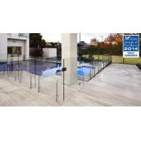 Hot sale frameless clear tempered glass fence with stainless steel post Manufactures