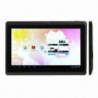 Tablet PCs, 7.0-inch Capacitive Touch Screen Google's Android 4.0, Allwinner A13, 1.0GHz CPU Manufactures