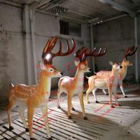 China animal statue elk sculptures statues of fiberglass nature painting as decoration statue in garden theme park wholesale