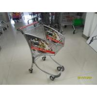 40L Steel Tube Supermarket Shopping Trolley / Airport Shopping Trolley with advertisement board Manufactures