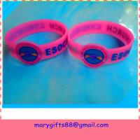 china promotional debossed rubber silicone bracelet Manufactures