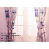 100% Polyester Flower and Stipes Sofa Cover  Fabric / Decorative Panel Curtains Manufactures
