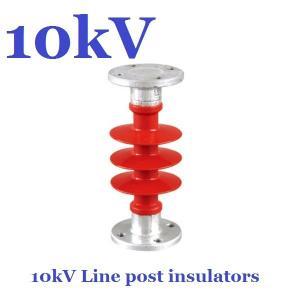 ANSI 10 kV / 11 kV Post Insulator Creepage Distance 380mm For Substation Manufactures