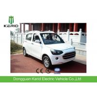 Popular Fully Electric Cars With 4 Leather Seats White Color F/R Brake Style Manufactures