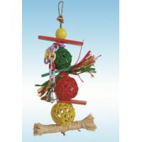 Buy cheap natural wood parrot toys 12 inches triple vine balls kabob for lovebirds from wholesalers