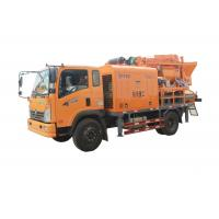 Mounted Concrete Mixer Pump Truck Simple Operation Diesel And Electric Dual Purpose Manufactures
