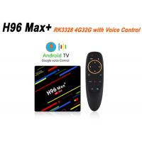 H96 Max Plus Smart TV Box RK3328 4GB 32GB Android 8.1 USB3.0 Voice Control Support HD 4K Set-top Box Manufactures