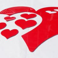 Quality Hot sale self adhesive wall mirror decoration stickers LOVE Heart shaped sticker for sale