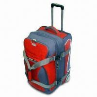 China Compact Rolling Duffle Bag with Wheels and Draw Bar on sale