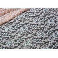 Cotton Spandex Polyester Stretchy Lace Fabric With Mesh Knitted Flower Lace Manufactures