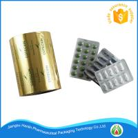 China Pharmaceutical Blister Aluminium Foil 25 micron Coated With Heat Sealing and primer Lacquer For Tablet Pack on sale