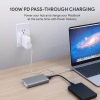 China 8 in 1 Multi Port USB C Hub Macbook Pro 2016 With Ethernet And Hdmi Vga on sale