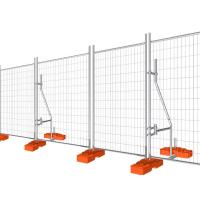 Temporary Fencing Panel Construction Galvanised temporary site security fencing Manufactures