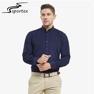 Autumn Winter Slim Fit Long Sleeve Shirt , Mens Slim Fit Shirts Anti Pilling Manufactures