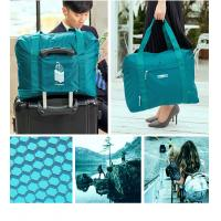 Lightweight Fold Up Carry Bags , High Durability Travel Blue Folding Bag Manufactures