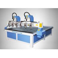 China High Accuracy 4 Heads CNC Router Machine for MDF / Acylic / Stone / Marble on sale