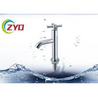 Chrome Plated Water Tap Faucet Single / Hole Handle Deck Mounted Type Manufactures