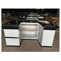 Buy cheap Elegant Custom White Checkout Counter / Anti - Corrision Grocery Store Register from wholesalers