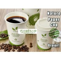 265ml PLA Biodegradable Paper Coffee Cups Insulated With Neat Cutting Edge Manufactures