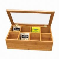 China Delicate Bamboo Wooden Box for Tea Bag, Assortment Chest on sale