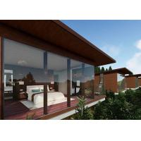 Tall Prefabricated Wooden Houses Gray / Wood Color Waterproof For Mountain Top Manufactures