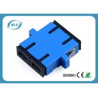 Blue Dulplex Fiber Optic Cable Accessories Adapter For FTTH Network System Manufactures