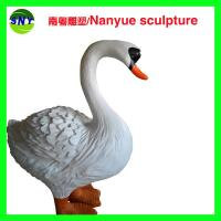 customize size fiberglass animal  statue   swan model as decoration statue in garden /square / shop/ mall Manufactures