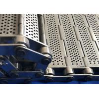 Customized SS 304 Chain Plate Wire Mesh Conveyor Belt For Machinery