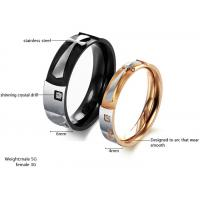 China Elegant women and mens cross stainless steel rings jewelry on sale