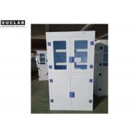 Full Steel Flammable Liquid Cabinet , Blue Gas Cylinder Gas Storage Cabinets Manufactures